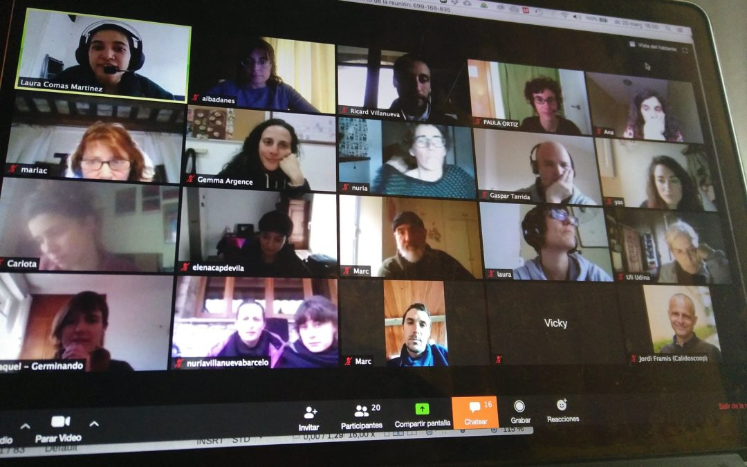 Participació en línia amb Resilience Earth